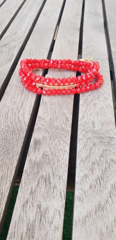 צמיד אדום, שרשרת אדומה, מתנה, צמיד אופנה, תכשיט אופנה, שרשרת יפה, שרשרת נוכחות
