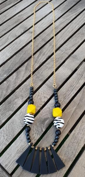 שרשרת שחור צהוב זברה
