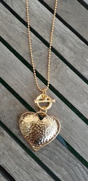 שרשרת אופנה, שרשרת זהב תליון לב, שרשרת נוכחות, תליון זהב, שרשרת יפה, שרשרת לארוע, מתנה, מתנה לאישה, תכשיטי אופנה, MFcollection
