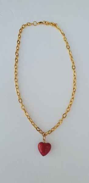 שרשרת זהב תליון לב צמיד זהב תליון לב בסגנון טיפאני טבעת זהב סברובסקי שרשרת אופנה צמידים שרשראות, שרשרת לב, שרשרת לב אדום, לב אדום, אדומה, שלי דהרי, מיה פינקלשטיין, MFcollection